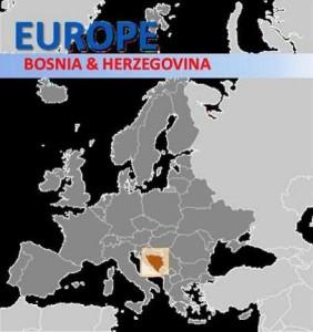 Map Bosnia - Europe