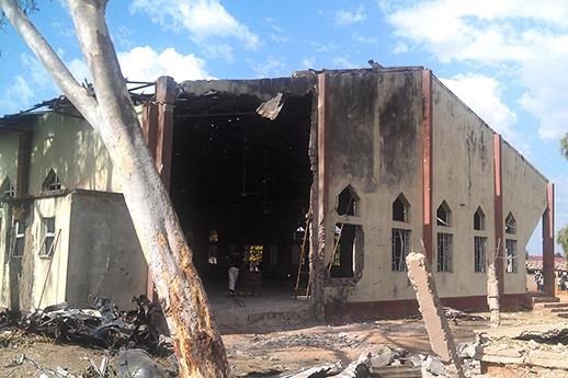 Nigeria - burned church