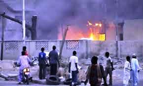 Nigeria - church on fire