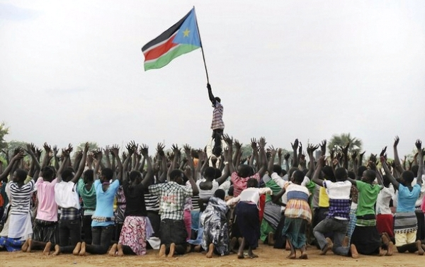 The South Sudanese celebrated with joy and thanksgiving to God for the birth of their new, independent country!