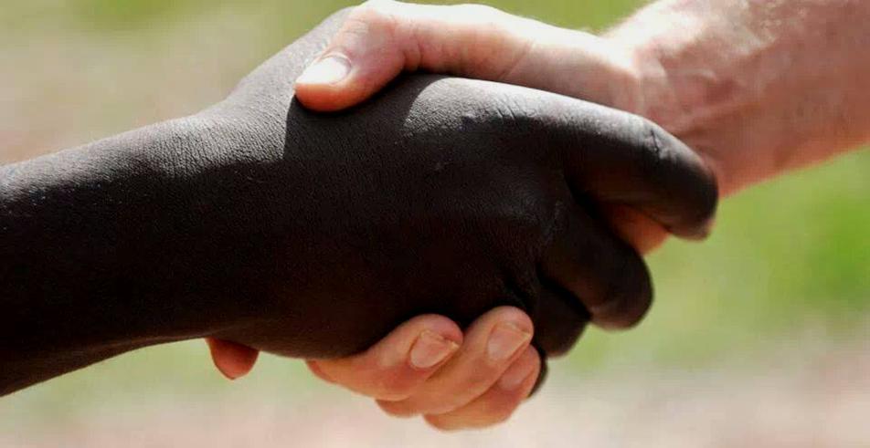 Starks - Black-white handshake