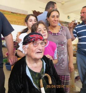 Three generations from one family with a 93 year old grandmother — all displaced!