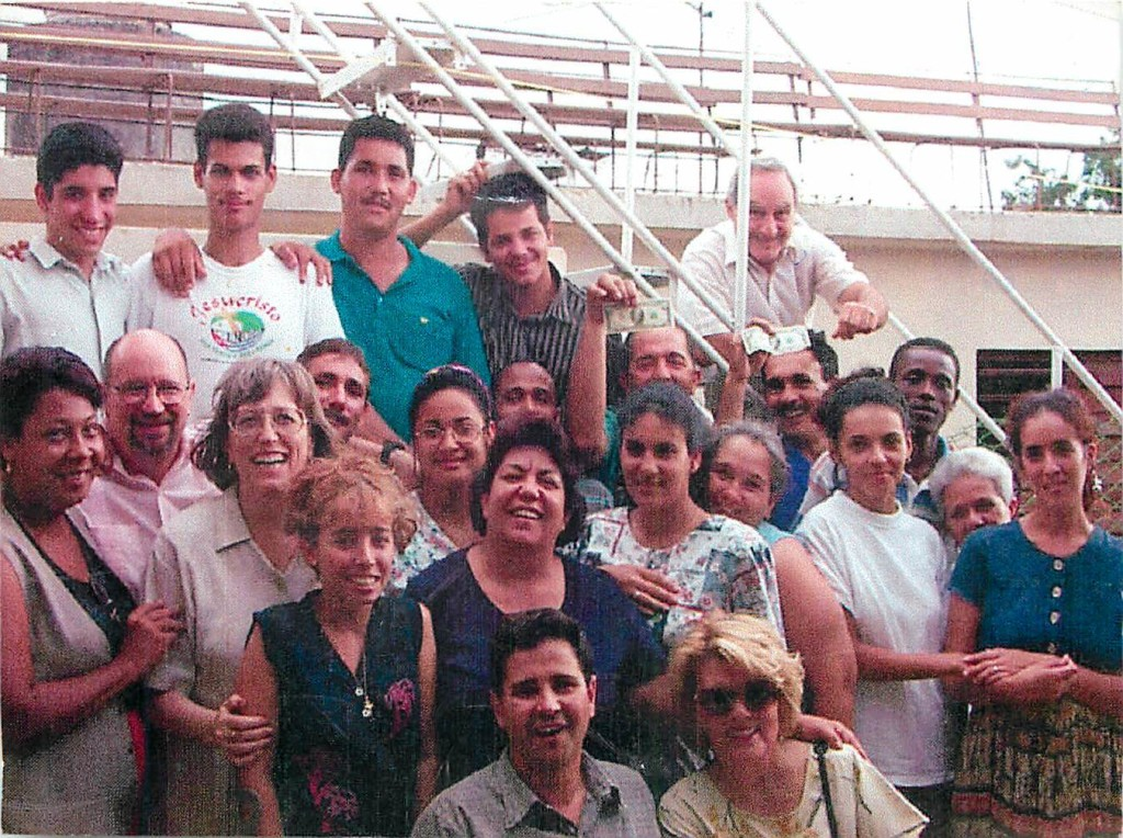 In 2000, Pastor Jorge brought a ministry team to Cuba from our local church. Here, we are gathered with Cuban believers from a roof top church.